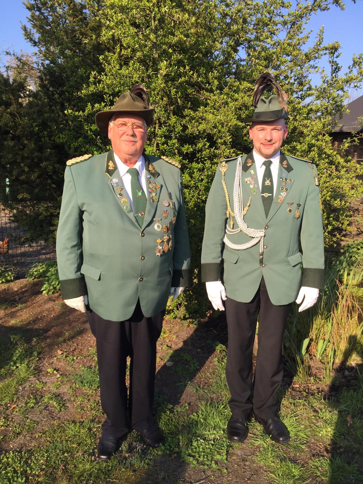 Oberst Wolfgang Homann und Adjudant Christopher Lux